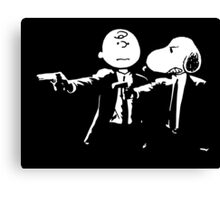 Snoopy & Charlie Pulp Fiction Canvas Print