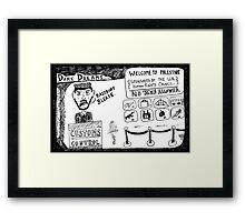 Dark Dream - Welcome to Palestine Framed Print