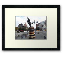 Bagel Sculpture, West Street, New York City Framed Print