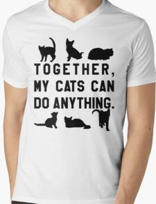 Together, My Cats Can Do Anything Mens V-Neck T-Shirt