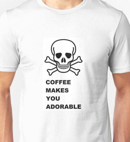 Skull & Crossbones ~ Coffee (Larger Version) Unisex T-Shirt