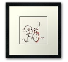 woman, smoking Framed Print