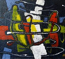 Ariadne's Thread - An Original Oil Painting (Abstract) by Andrei Mundrea