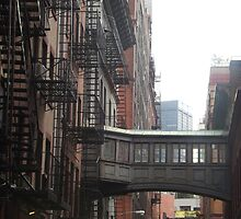 Classic Bridge Between Buildings, Tribeca, New York City by lenspiro