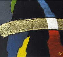 Golden Stroke - Original Oil Painting (Abstract) 2009 by Andrei Mundrea