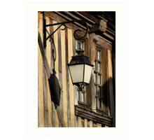 Street Light On A Medieval House - France Art Print