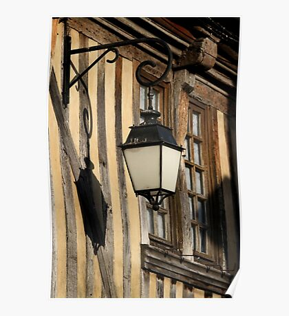 Street Light On A Medieval House - France Poster