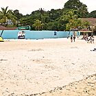 The beach - Sentosa Island by Tashique Alam