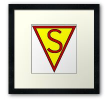 First Superhero Framed Print