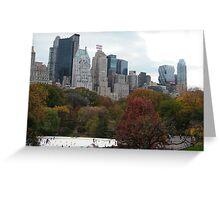 NY November Wollman Rink, Central Park, Fall Foliage Greeting Card