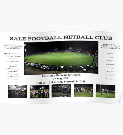Sale Football Netball Club Poster