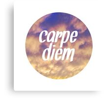 Carpe Diem Clouds Canvas Print