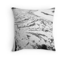 Bayfield River in Winter Throw Pillow