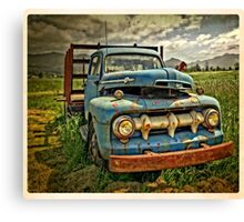 Old Blue Ford Truck Canvas Print