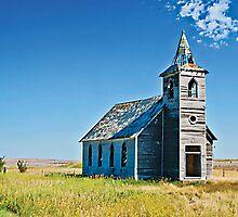 The Rocky Valley Lutheran Church, Dooley, Montana, USA by Bryan D. Spellman