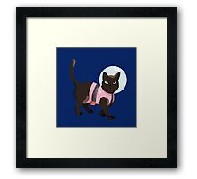realistic cookie cat Framed Print