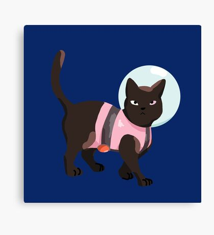 realistic cookie cat Canvas Print