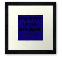 9th Nome Framed Print