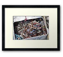 Rosary Beads Abandoned Framed Print