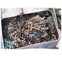 Rosary Beads Abandoned Poster