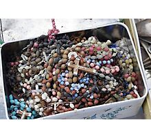 Rosary Beads Abandoned Photographic Print