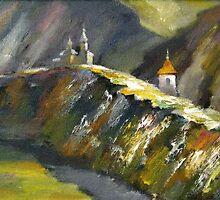 Orheiul Vechi - Original Oil Painting (landscape) 2007 by Andrei Mundrea