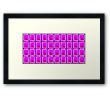 Patterned Mauve Bloc Framed Print