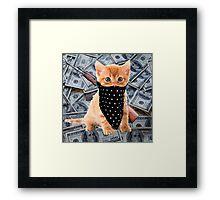 Gangsta Kitty Framed Print