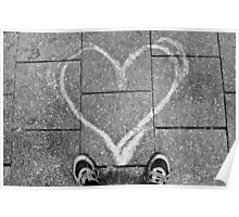 Footpath heart Poster