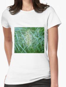 Flowering Grass Spike Womens Fitted T-Shirt