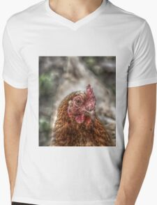 Chicken HDR style Mens V-Neck T-Shirt