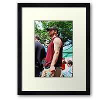 hey up there,  Framed Print