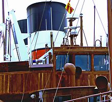 detail of the paddle steamer Waverley by dmacwill