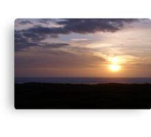 Sunset at Ocean Shores, Washington Canvas Print