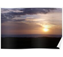 Sunset at Ocean Shores, Washington Poster