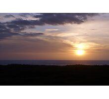 Sunset at Ocean Shores, Washington Photographic Print
