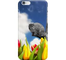 Spring Fever - Squirrel and Tulips iPhone Case/Skin