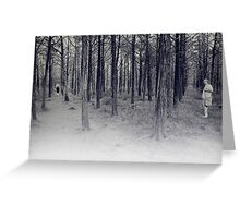 parallel forest 1 Greeting Card