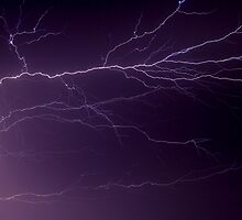 Intense Lightning Bolt Branches and Forks by Kenneth Keifer