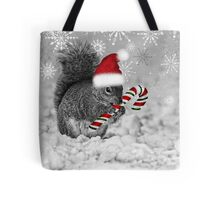 Squirrel in the Snow - Christmas Tote Bag