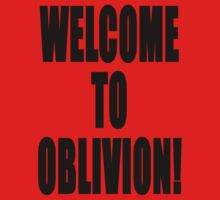 Welcome to Oblivion One Piece - Short Sleeve