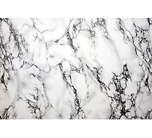 White And Gray Marble Stone Grain Pattern Photographic Print
