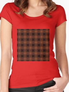 Vintage Weave Women's Fitted Scoop T-Shirt