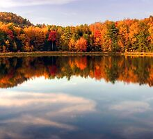 Autumn Shoreline Reflections by Gene Walls