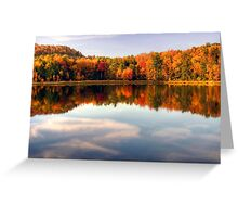 Autumn Shoreline Reflections Greeting Card