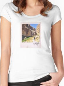 Canyon Hiker Polaroid Women's Fitted Scoop T-Shirt