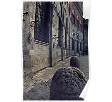 Street in Siena Italy Poster