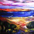 Big Sur River Meets Pacific by Barbara Sparhawk