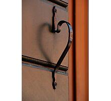 A Doorknob That Has A Heart Photographic Print