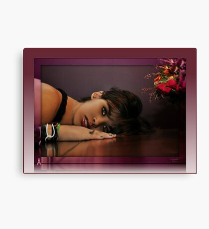 """ Danie , Breast Cancer Awareness "" Canvas Print"